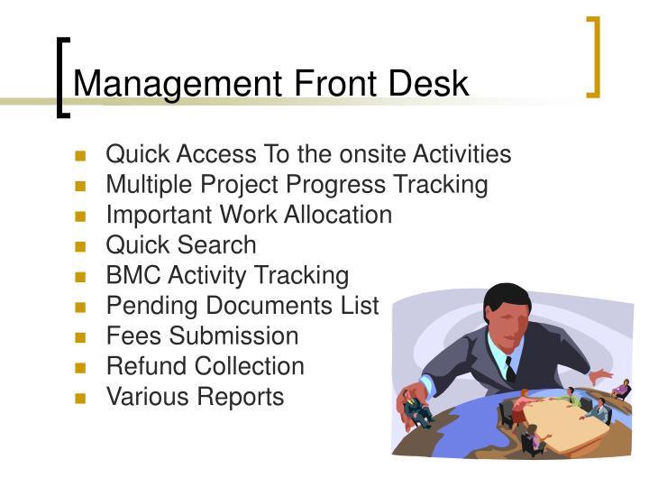 Management Front Desk