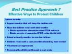 best practice approach 7 effective ways to protect children2
