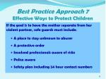 best practice approach 7 effective ways to protect children4