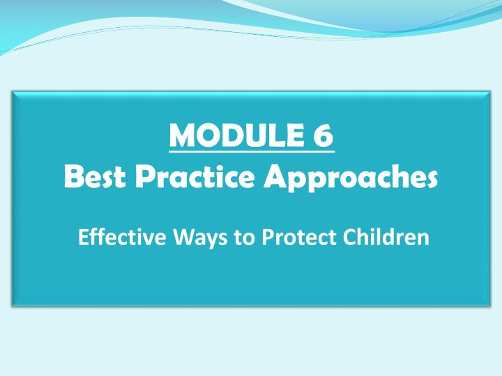 module 6 best practice approaches effective ways to protect children n.