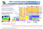 cms longitudinal view modifications considered for slhc yoke and forward