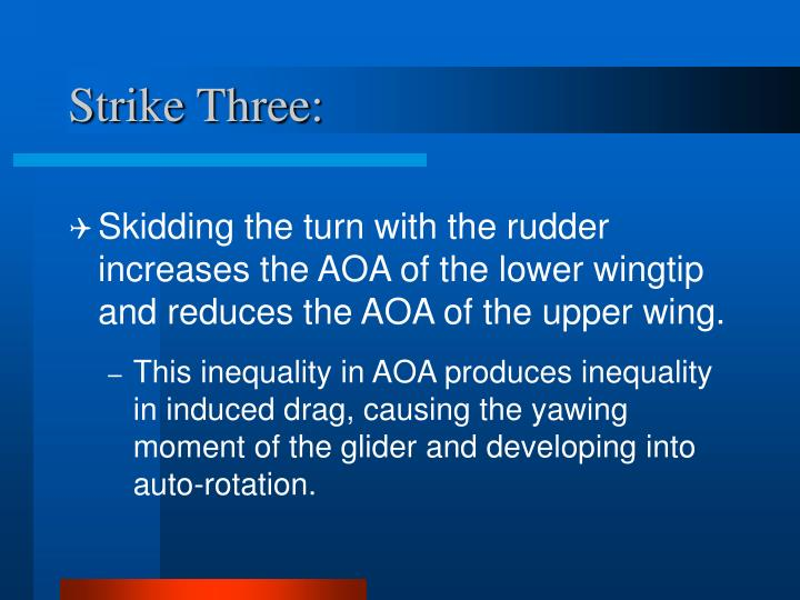 Strike Three: