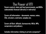 the power of rti