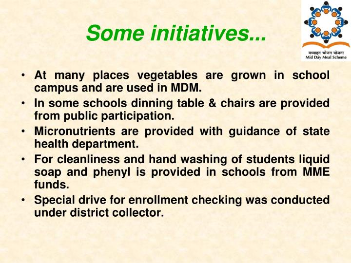 Some initiatives...