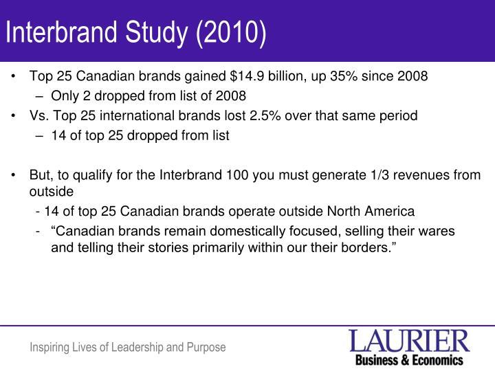 Interbrand Study (2010)