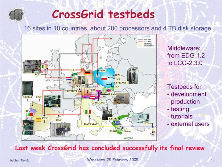 CrossGrid testbeds