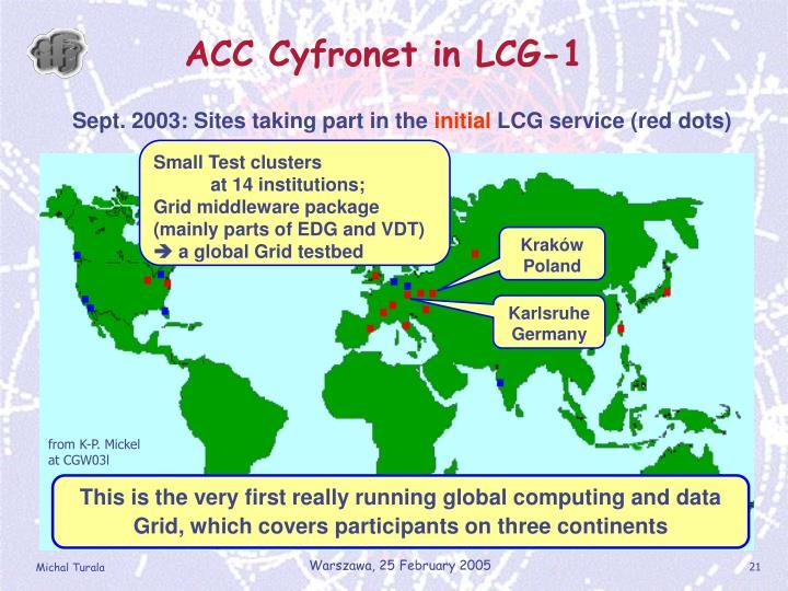 ACC Cyfronet in LCG-1