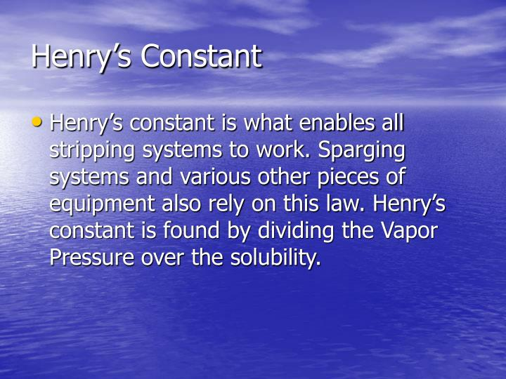 Henry's Constant