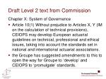 draft level 2 text from commission