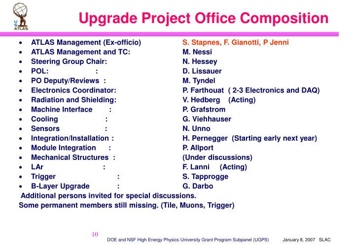 Upgrade Project Office Composition