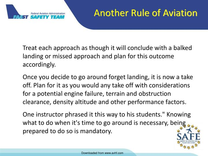 Another Rule of Aviation