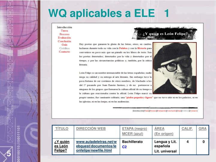 WQ aplicables a ELE   1