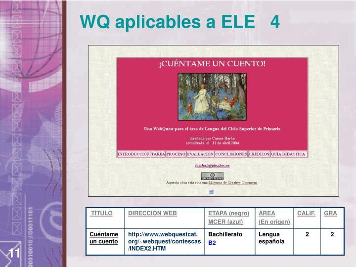 WQ aplicables a ELE   4