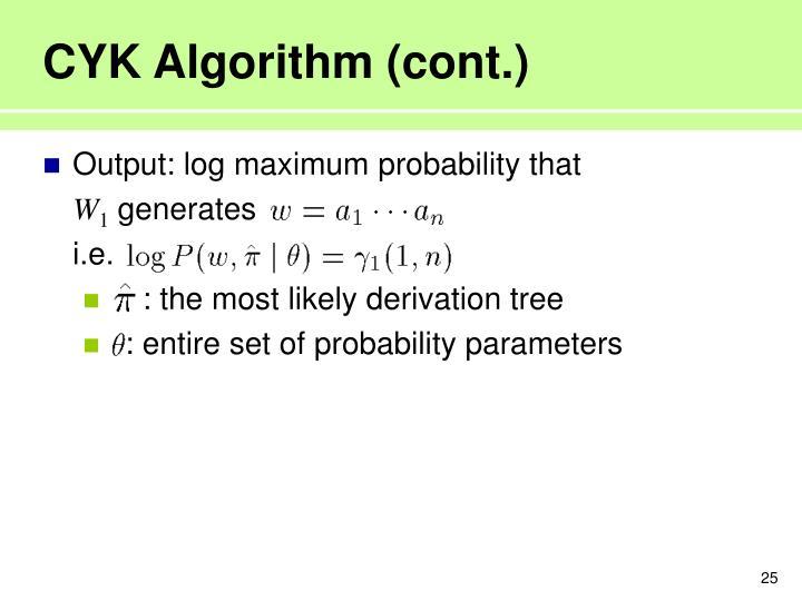 CYK Algorithm (cont.)