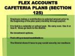 flex accounts cafeteria plans section 125