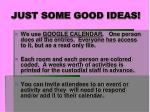 just some good ideas12