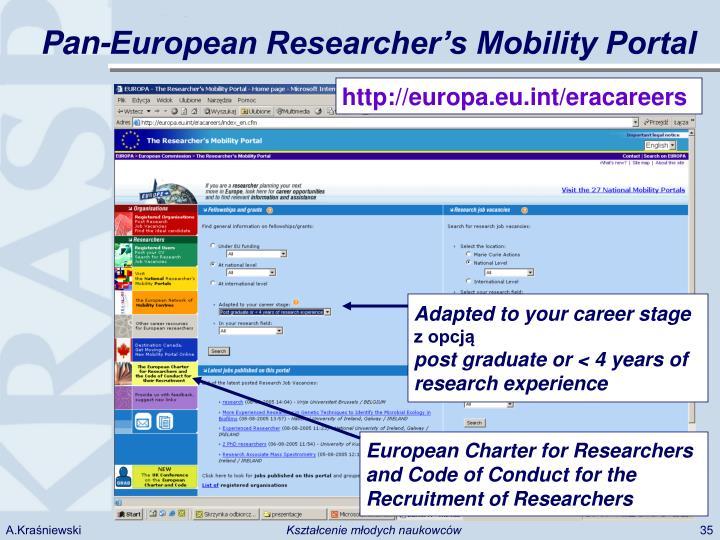 Pan-European Researcher's Mobility Portal