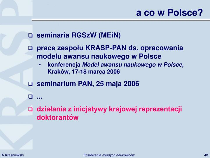 a co w Polsce?