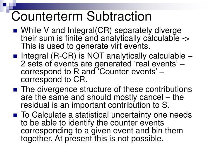 Counterterm Subtraction