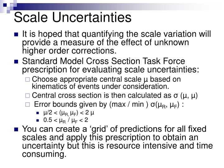 Scale Uncertainties