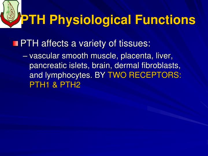 PTH Physiological Functions