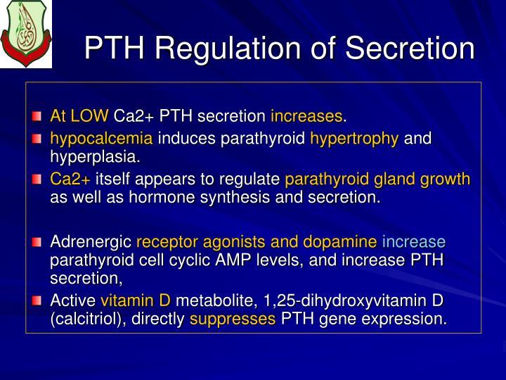 PTH Regulation of Secretion