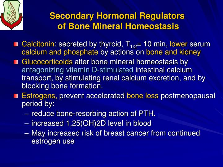 Secondary Hormonal Regulators