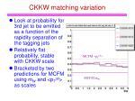 ckkw matching variation
