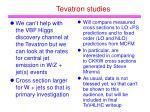 tevatron studies