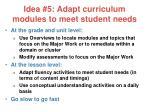idea 5 adapt curriculum modules to meet student needs