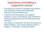 importance of building a supportive culture