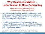 why readiness matters labor market is more demanding