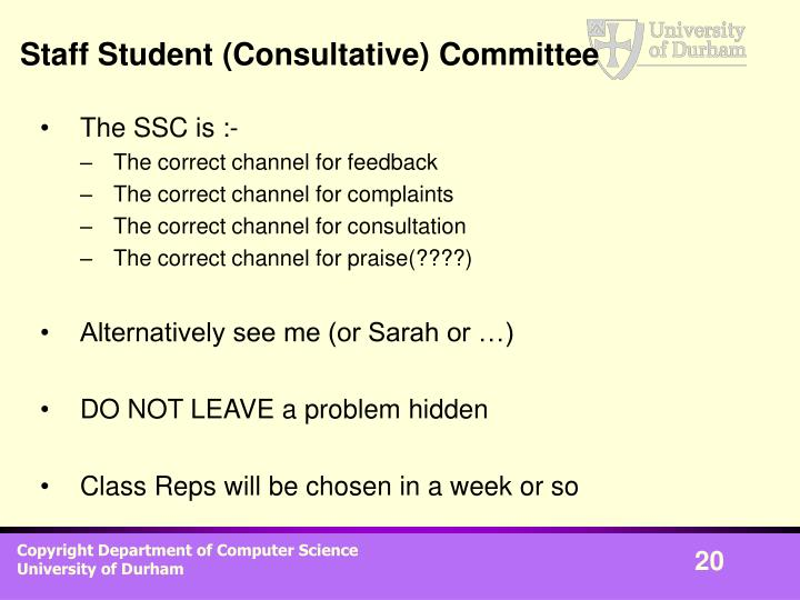 Staff Student (Consultative) Committee
