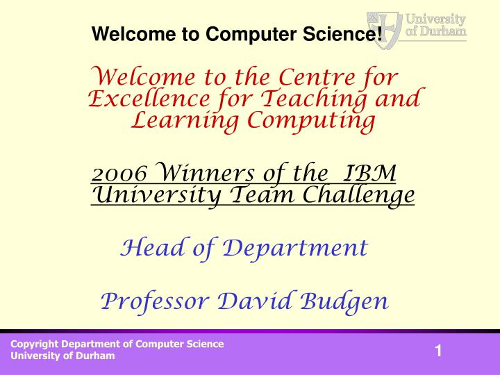 Welcome to computer science