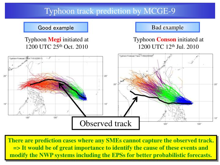 Typhoon track prediction by MCGE-9