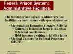 federal prison system administrative facilities