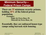 minimum security federal prison camps
