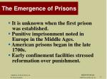 the emergence of prisons
