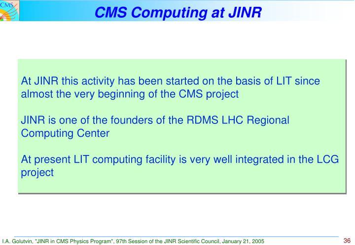 CMS Computing at JINR