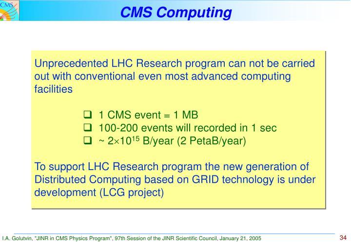 CMS Computing