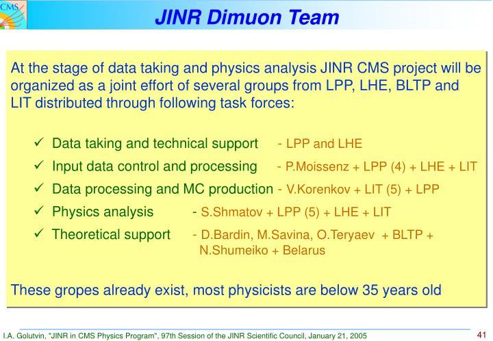 JINR Dimuon Team