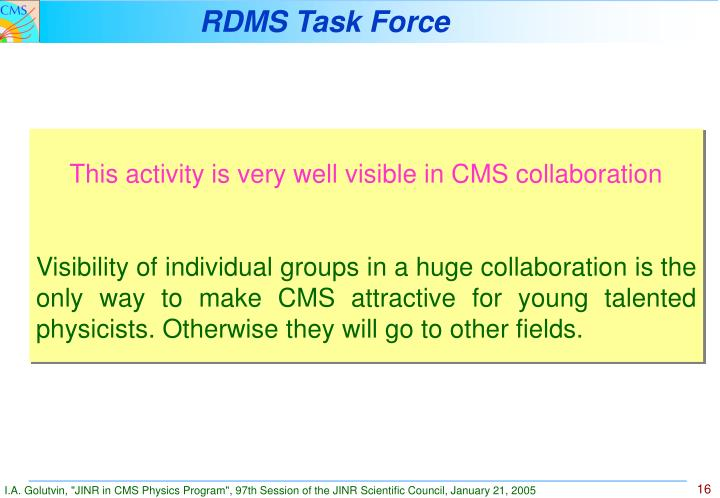 RDMS Task Force