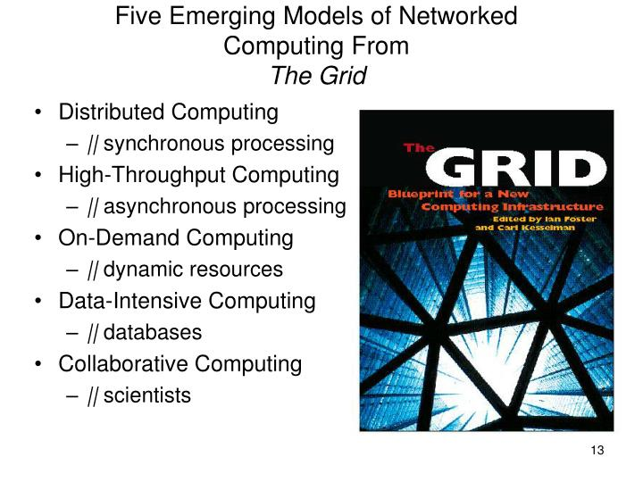 Five Emerging Models of Networked Computing From