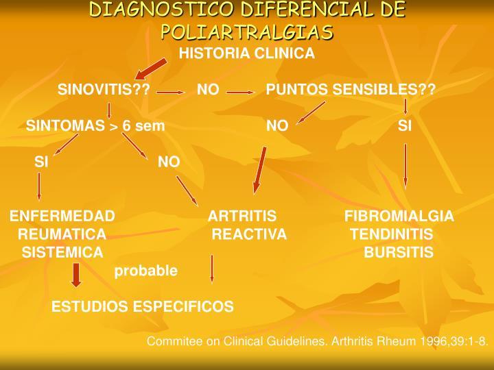 DIAGNOSTICO DIFERENCIAL DE POLIARTRALGIAS