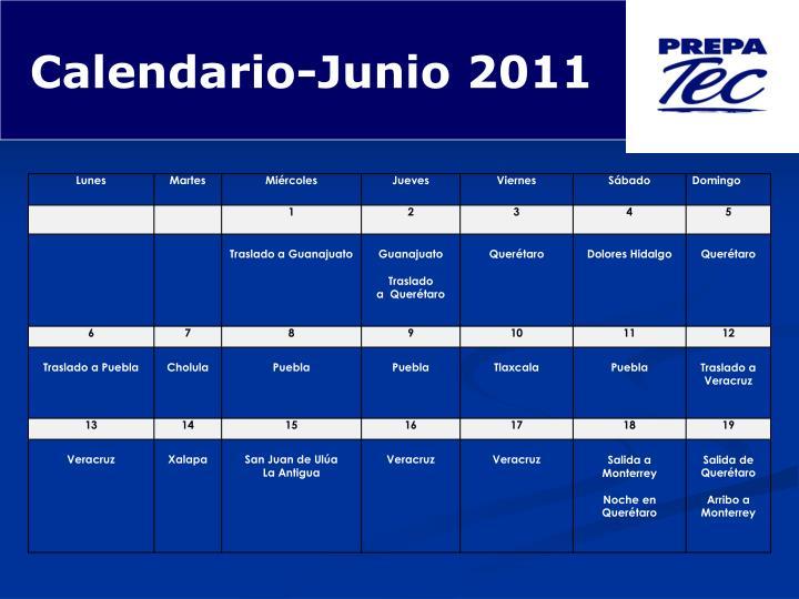 Calendario-Junio 2011