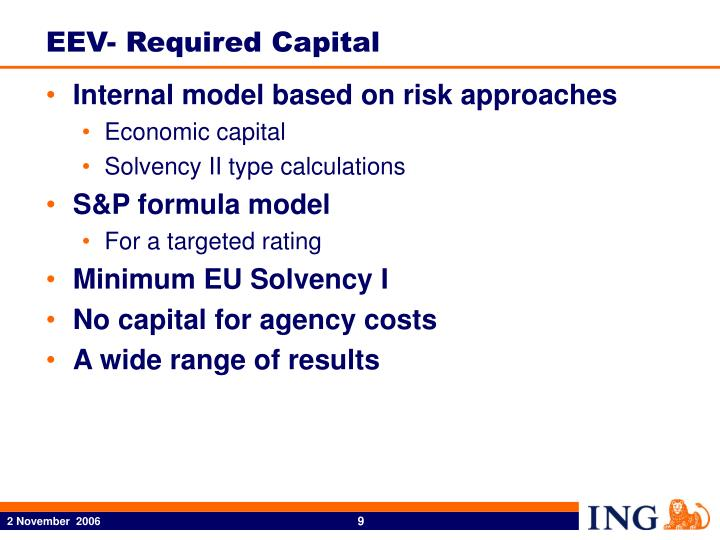 EEV- Required Capital