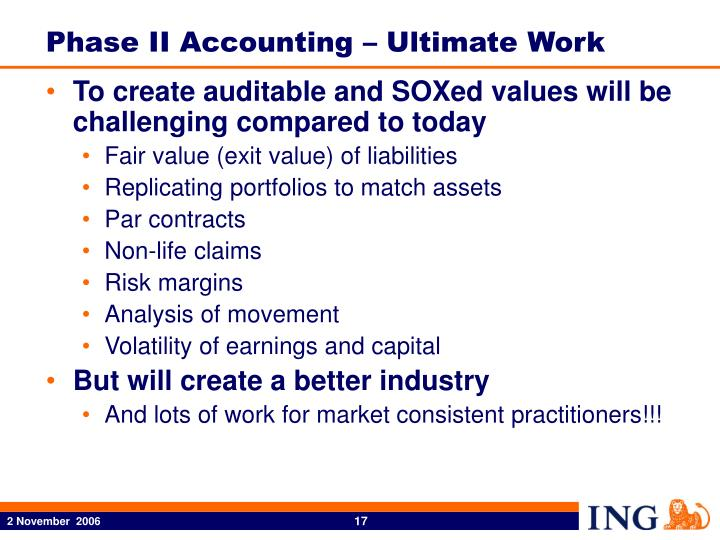 Phase II Accounting – Ultimate Work