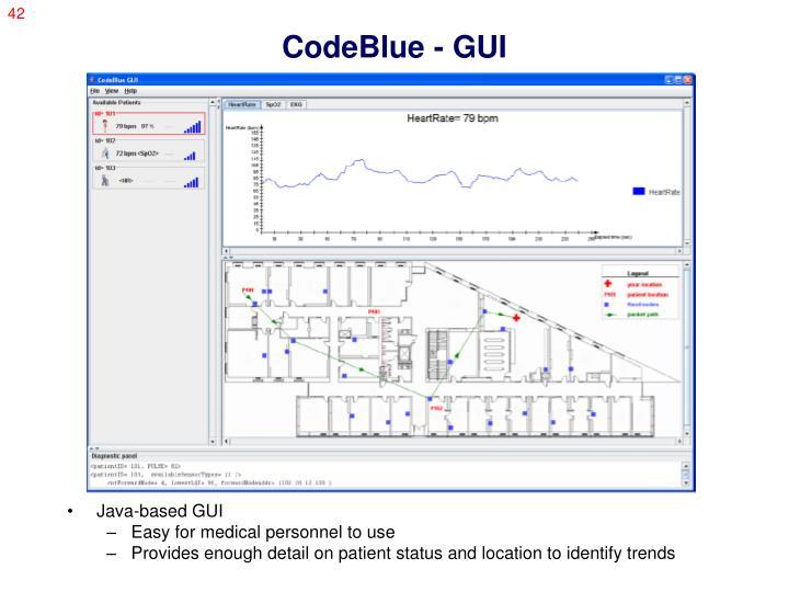 CodeBlue - GUI