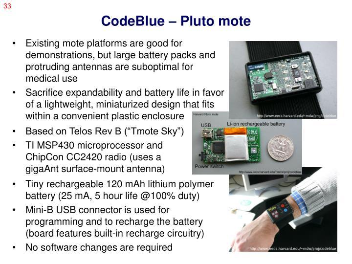 CodeBlue – Pluto mote