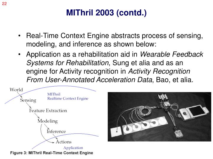 MIThril 2003 (contd.)
